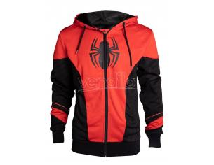 Spider-man - Red & Black Outfit Men's Felpa Con Cappuccio Difuzed