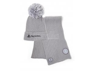 Playstation - Silver Beanie & Sciarpa Regalo Set Difuzed