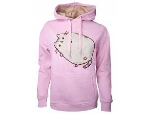 Pusheen - Embroidered Outline Pusheen Women's Felpa Con Cappuccio Difuzed