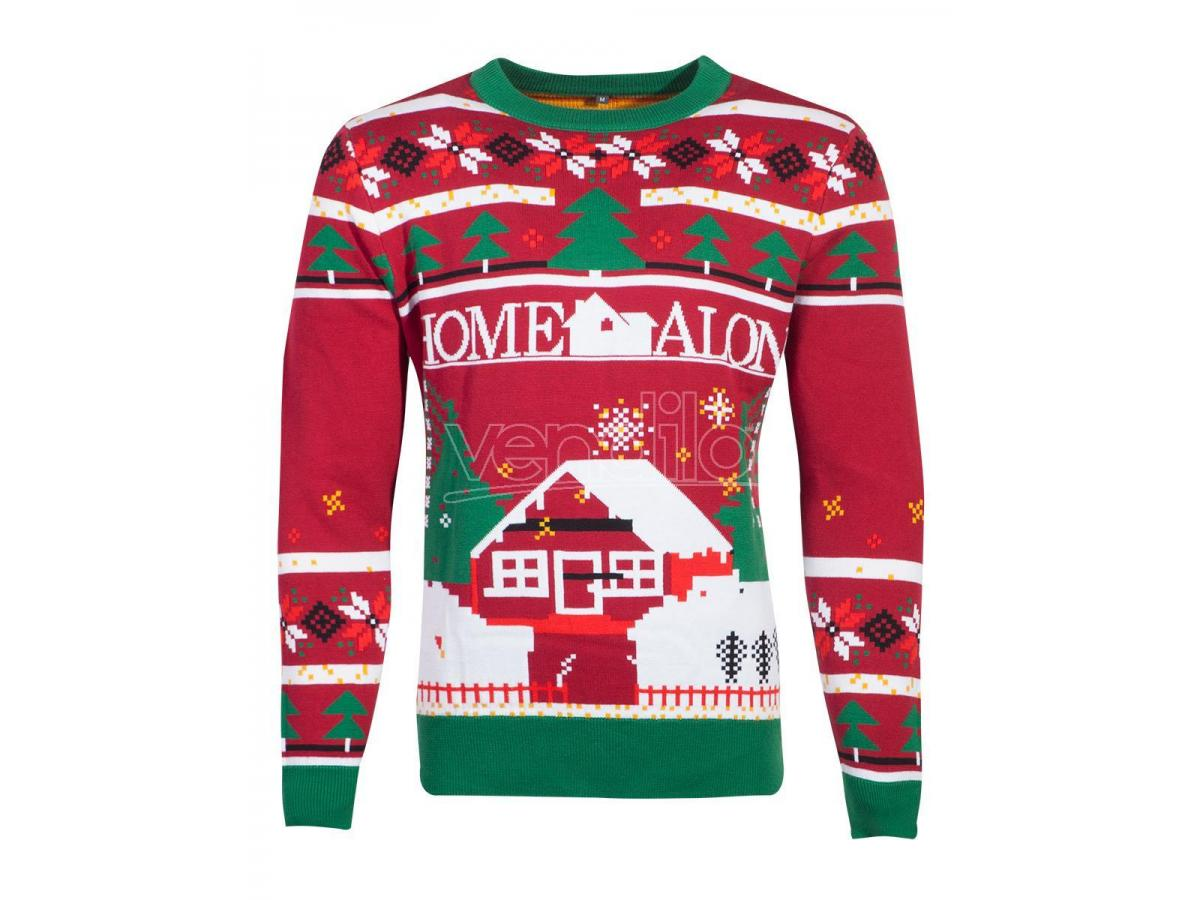 Fox - Home Alone - Knitted Natale Jumper Difuzed