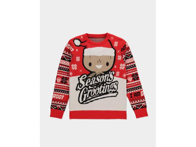 Marvel - Groot Knitted Natale Jumper Difuzed