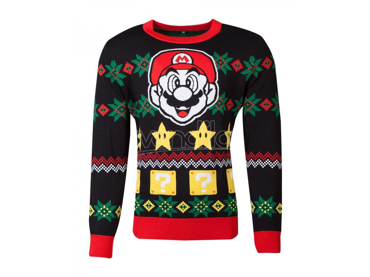 Nintendo - Super Mario Knitted Unisex Jumper Difuzed