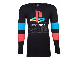 Playstation - Logo & Arms Striped Longsleeve T-shirt Difuzed