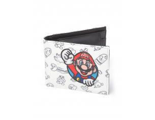 Nintendo - Allover Print Portafoglio Pieghevole Con Super Mario Patch Difuzed