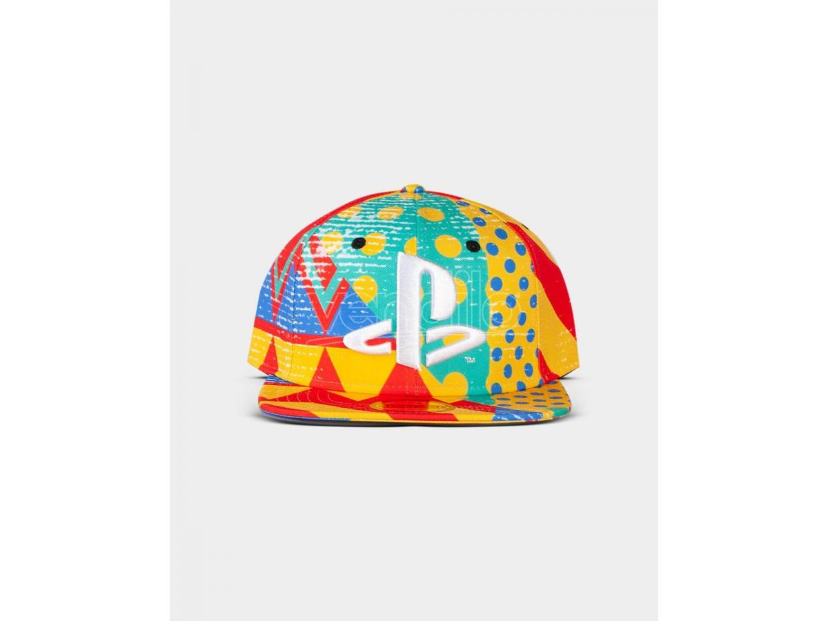 Sony - Playstation - All Over Cappellino Snapback Difuzed