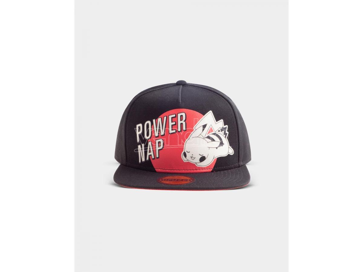 Pokémon -  Power Nap Pikachu Cappellino Snapback Difuzed