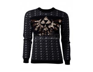 Zelda - Tri-force Glitter Women's Natale Sweatshirt Difuzed