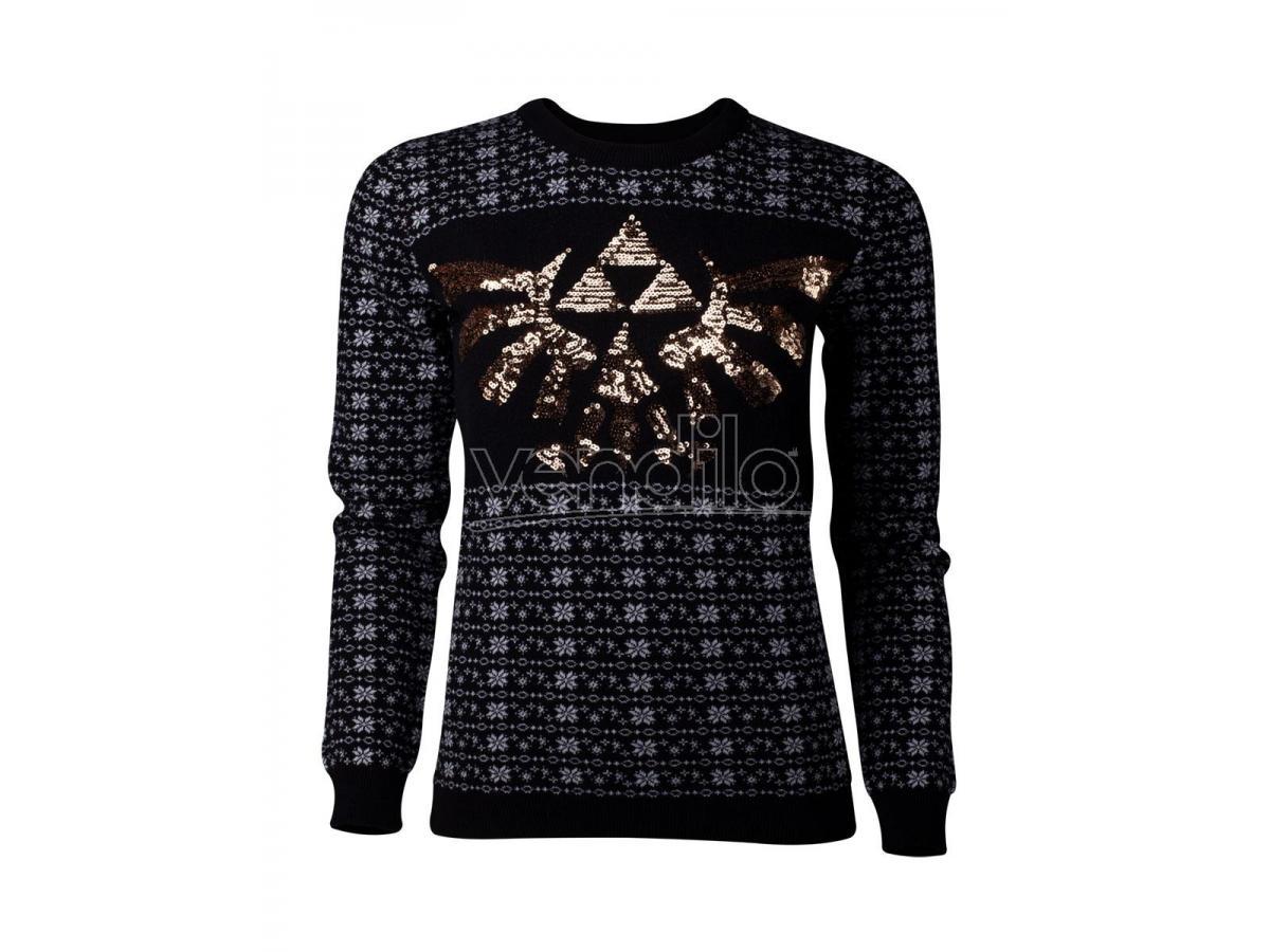 Zelda - Tri-force Glitter Women's Natale Sweatshirt Difuzed