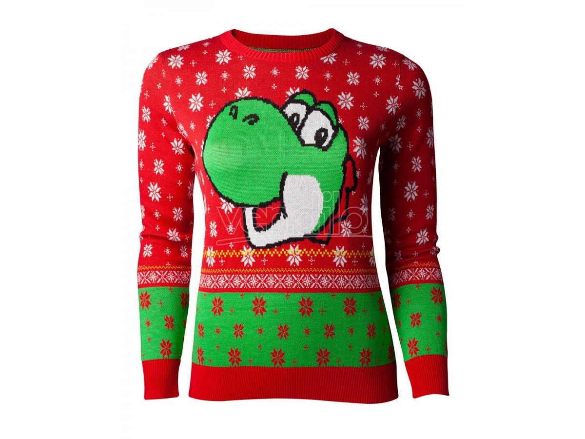Nintendo - Super Mario Yoshi Knitted Women's Sweater Difuzed