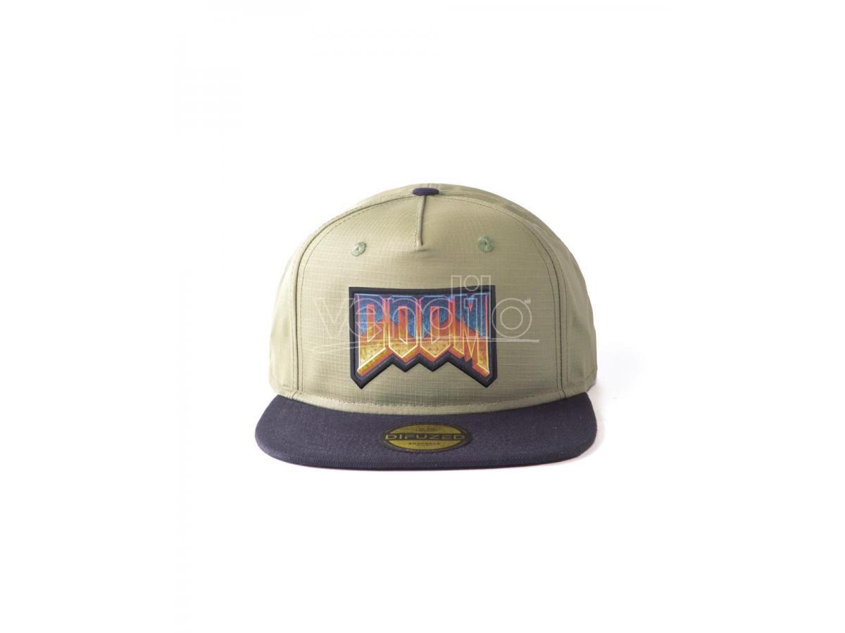 Doom Eternal - Retro Logo Cappellino Snapback Difuzed