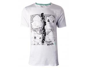Pokémon - Manga Bulbasaur T-shirt Uomo Difuzed