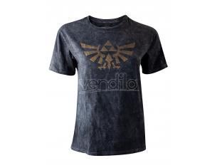 Zelda - Vintage Discharge Logo T-shirt Donna Difuzed