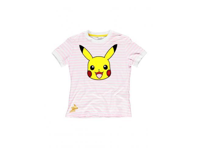 Pokémon - Pikachu Striped T-shirt Donna Difuzed