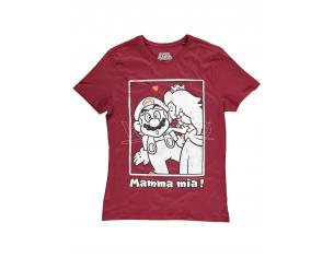 Nintendo - Super Mario Peach Kiss T-shirt Difuzed