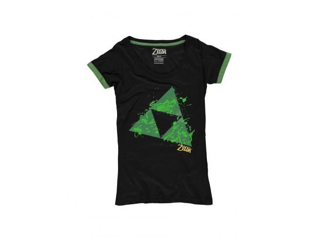Zelda - Triforce Splatter T-shirt Donna Difuzed