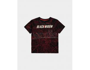 Marvel - Black Widow City Map - T-shirt Donna Difuzed