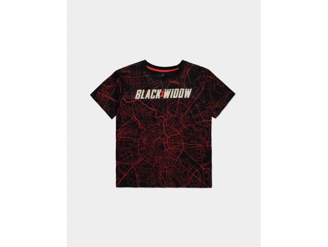 Marvel - Black Widow City Map - T-shirt Donna Difuzed