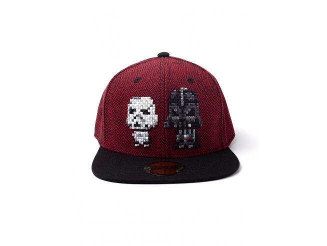 Star Wars - Pixel Darth Vader & Stormtrooper Cappellino Snapback Difuzed