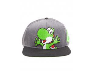 Nintendo - Super Mario Cappellino Grigio Cappellino Snapback Con Yoshi E Uova Difuzed