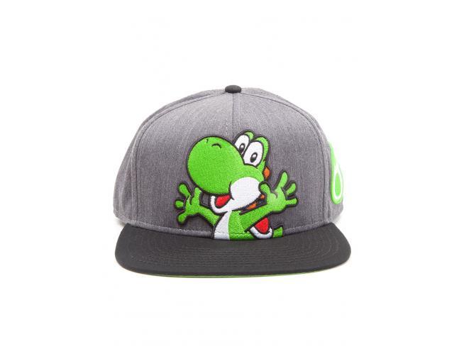 Nintendo - Super Mario Cappellino Snapback Grigio Con Yoshi E Uova Difuzed