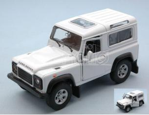 Welly WE42392W LAND ROVER DEFENDER RHD WHITE cm 11 Modellino