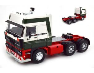 KK SCALE RK180092 DAF 3600 SPACECAB 1986 DARK GREEN/WHITE/RED 1:18 Modellino