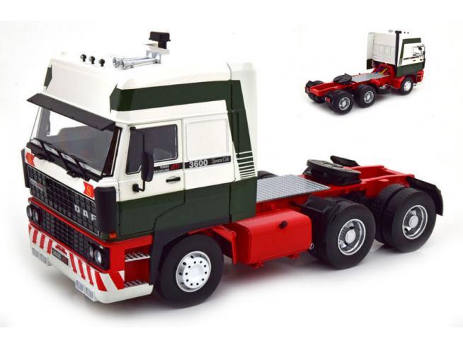 KK SCALE RK180092 DAF 3600 SPACECAB 1986 DARK GREEN/WHITE/RED 1:18 Modellino