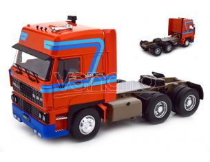 KK SCALE RK180094 ROAD KING DAF 3600 SPACECAB 1986 ORANGE/BLUE 1:18 Modellino