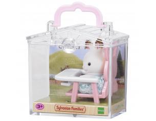 Sylvanian Family 5197 - Bebè Coniglio e seggiolone