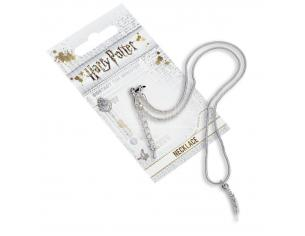 Harry Potter Collana placcata Argento con Ciondolo a Piuma 40,6 cm Carat Shop