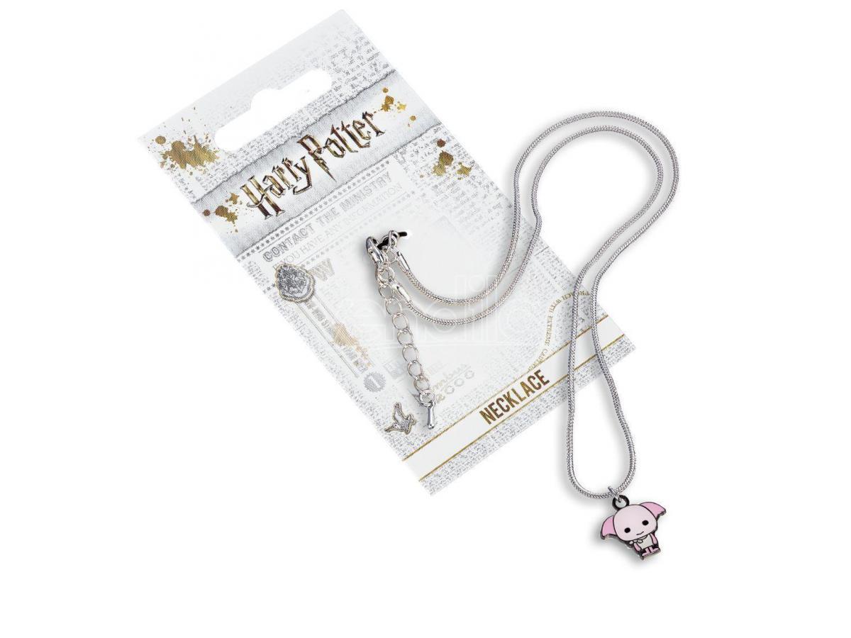 Harry Potter Collana con Ciondolo Elfo Dobby rosa 40 cm The Carat Shop