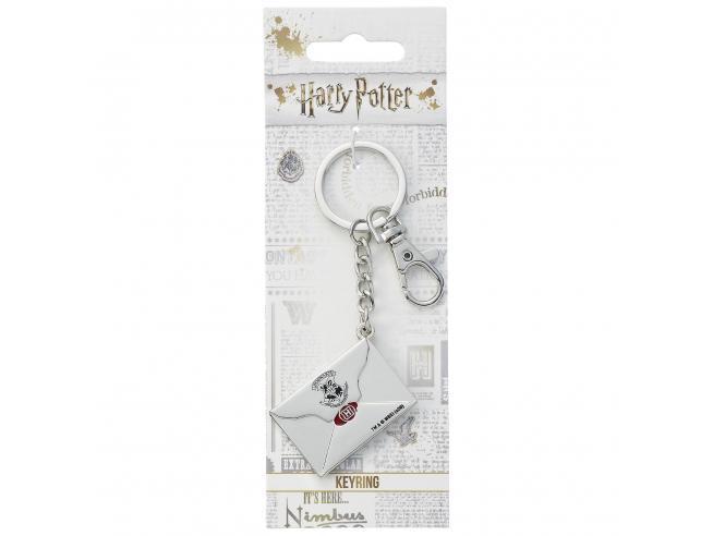 Harry Potter Portachiavi Letterre di Accettazione Hogwarts 5 cm The Carat Shop