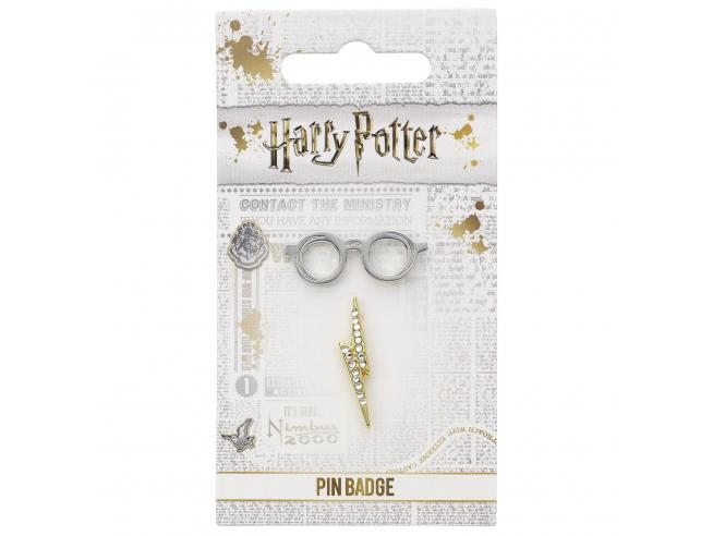 Harry Potter Spilla Distintivo Occhiali & Fulmine  2 x 1 cm The Carat Shop