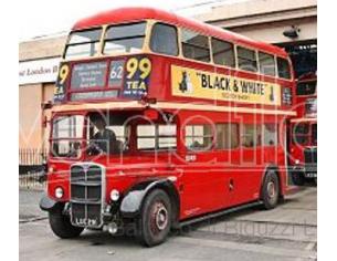 IXO MODEL BUS026LQ AEC REGENT III RT 1939 RED-BLACK-WHITE 1:43 Modellino