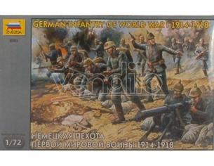 Zvezda Z8083 GERMAN INFANTRY WWI KIT 1:72 Modellino