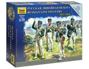 Zvezda Z6808 RUSSIAN LINE INFANTRY NAPOLEONIC WARS KIT 1:72 Modellino