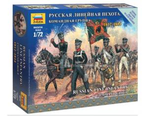 Zvezda Z6815 RUSSIAN INFANTRY COMMAND GROUP KIT 1:72 Modellino