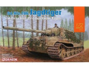 Dragon D7563 SD.KFZ.186 JAGDTIGER (HENSCHEL PRODUCTION TYPE)  KIT 1:72 Modellino