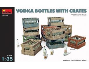 Miniart Min35577 Vodka Bottles Con Crates Kit 1:35 Modellino