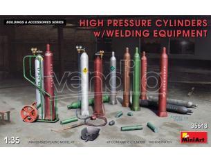 MINIART MIN35618 HIGH PRESSURE CYLINDERS W/WELDING EQUIPMENT KIT 1:35 Modellino
