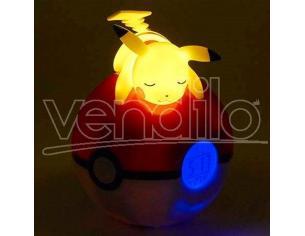Pokemon Pikachu Pokeball Lampada Alarm Clock Teknofun