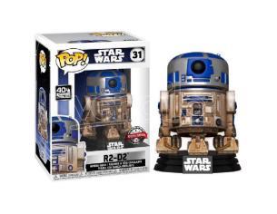 Star Wars Funko POP Film Vinile Figura R2-D2 su Dagobah 9 cm Esclusiva