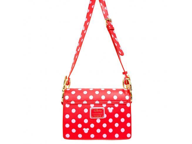Loungefly Disney Minnie Pink Polka Dot crossbody bag Loungefly