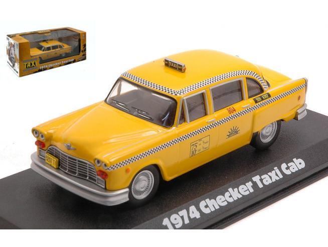GREENLIGHT GREEN86601 CHECKER TAXI SUNSHINE CAB COMPANY N.804 TAXI 1978-83 TV SERIES 1:43 Modellino