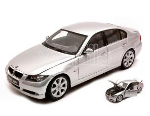 WELLY WE1995 BMW 330 I 2007 SILVER 1:18 Modellino