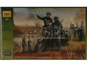 Zvezda 3632 GERMAN WWII MOTORCYCLE R 12 KIT 1:35 Modellino
