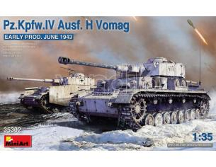 MINIART MIN35302 PZ.Kpfw.IV Ausf.H VOMAG EARLY PROD..(JUNE 1943) KIT 1:35 Modellino