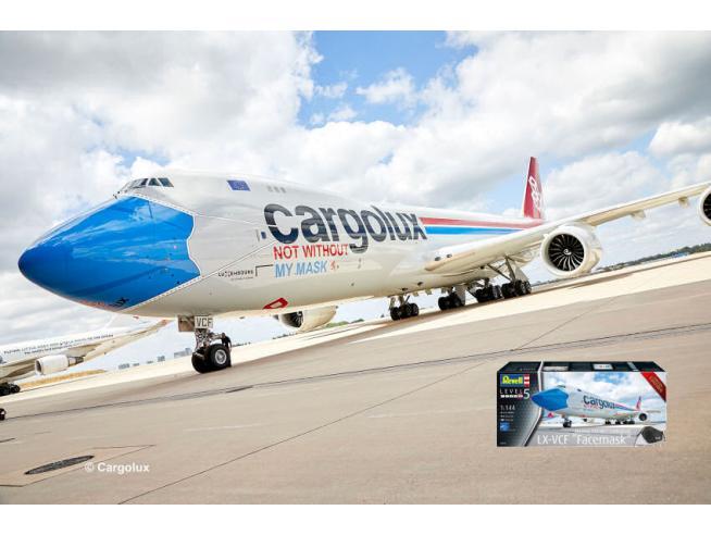 REVELL RV03836 BOEING 747-BF CARGOLUX LX-VCF FACEMASK KIT 1:144 Modellino