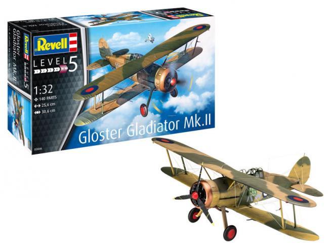 REVELL RV03846 GLOSTER GLADIATOR Mk.II KIT 1:32 Modellino