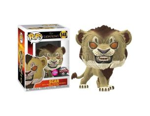 Pop Figura Disney Il Re Leone Scar Flocked Esclusiva Funko
